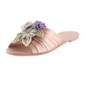 Sophia Webster Lilico Glitter Slides Sandals NWT